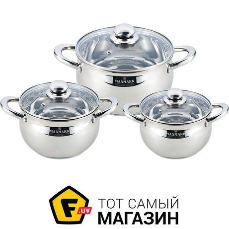 Посуда Maxmark Mk APP7506G,3 каструлі 3 кришки