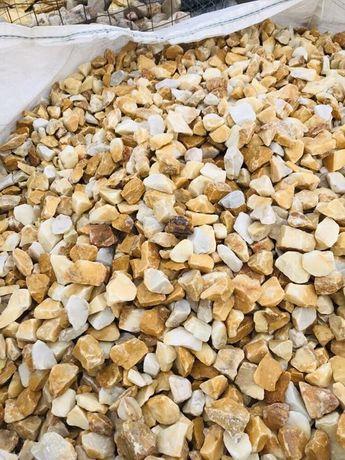 GRYS WŁOSKI BURSZTYNOWY - Miodowy Kamień Żwirek do Ogrodu Akwarium