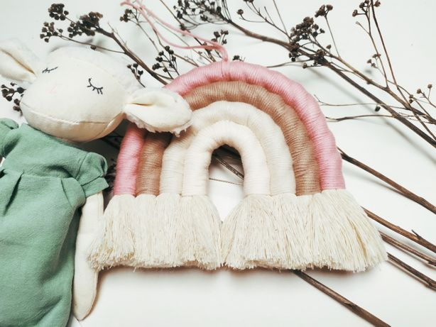 Tęcza ze sznurka/ rainbow makrama / Boho/ Nordic