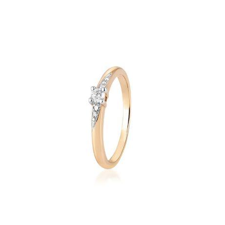 pierścionek zaręczynowy ze złota z brylantem