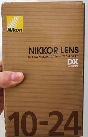 Objectiva Nikon AF-S DX NIKKOR 10-24mm f/3.5-4.5G ED NOVA, c/ garantia
