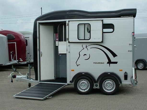 Przyczepa dla 2 koni z przednim wyjściem aluminiowa