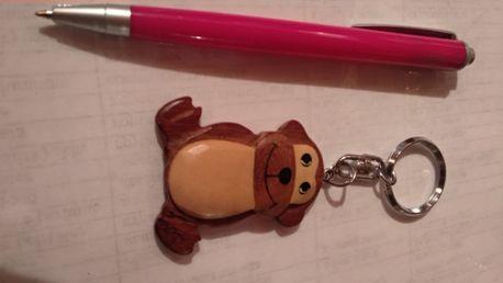 детский брелок игрушка обезяна обезьянка дерево отличное состояние