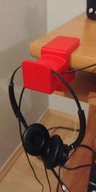 Uchwyt stojak wieszak na słuchawki do stołu