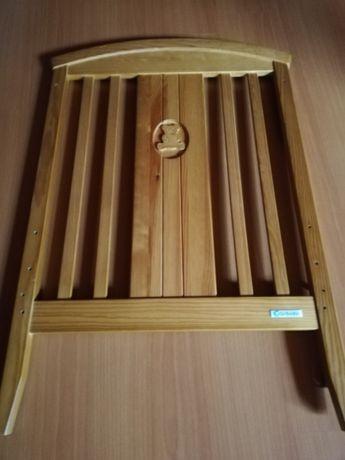 Cama de grades de madeira coração cerejeira