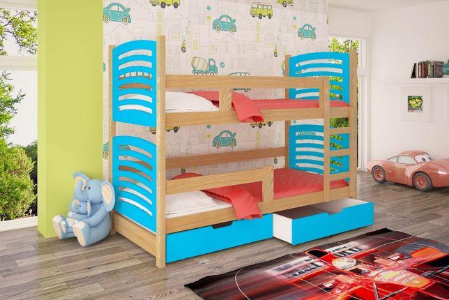 Łóżko dzieciece dla dwójki dzieci model Oli! Szuflady wysuwane