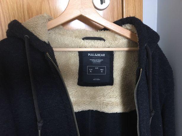 Casacos XL Pull Bear de lã revestivos de pelo no interior