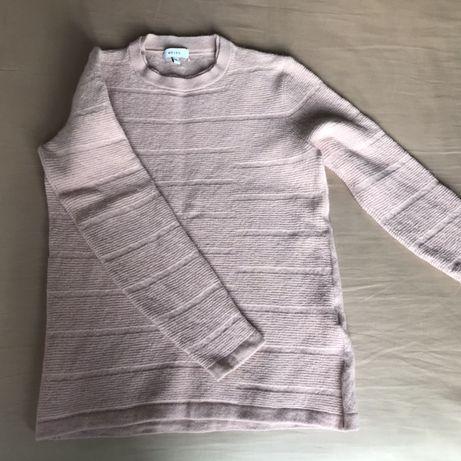 Ciepły różowy sweterek Reiss z wełną, r. S