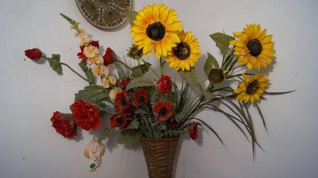 """Букет штучних квітів """"БАРВИ ЛІТА"""" для фотозон та декору"""