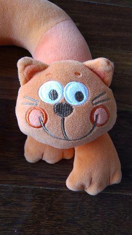 Almofada cervical Chicco gato laranja como NOVA
