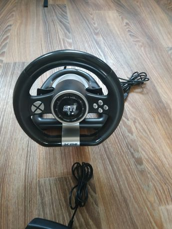 Проводной рульAcme Racing Wheel Sti PC Black