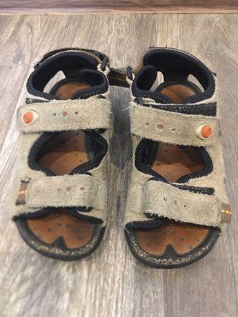 Sandały chłopiece, ecco, rozmiar 27, regulacja na rzepy