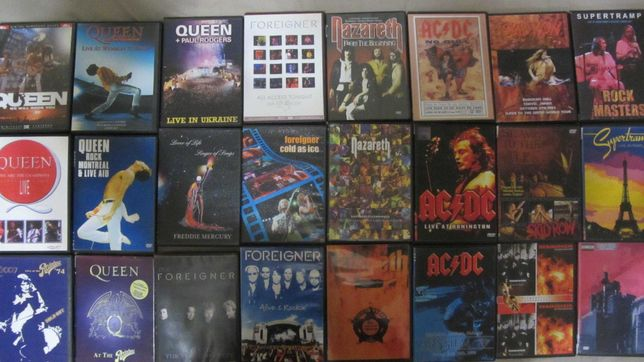 Queen,Foreigner,Nazareth,AC/DC,SkidRow,Ramstein на новыхDVD-R (видео)!