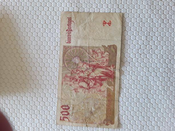 Nota de 500 escudos  de 1997.