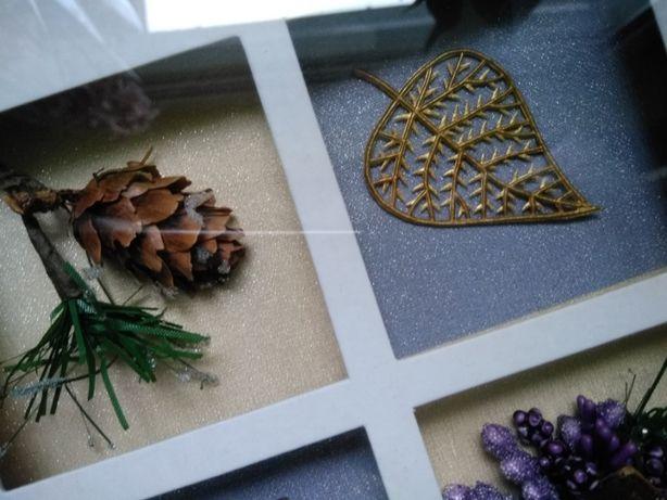 Obrazek przestrzenny w drewnianej ramie na prezent