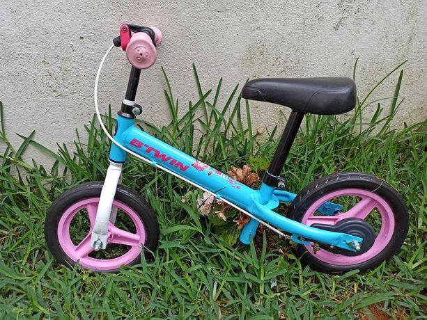 BTWIN Runride 500 Criança 10 Polegadas AZUL/ROSA