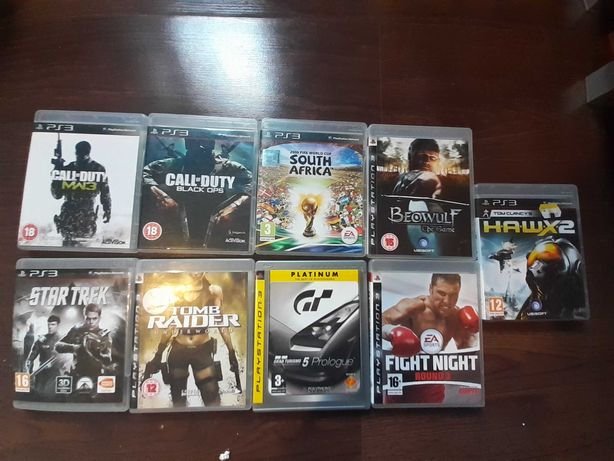 Gry na ps3  tomb raider,star trek,call of duty black ops