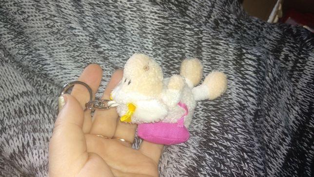 мягкая фирменная игрушка овечка овца с рюкзаком карабин брелок барашек
