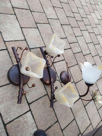 Lampy 1kinkiet i 2 sufitowe