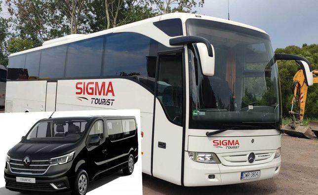 wynajem busa  busów autokarów wypożyczalnia 9 osobowych busy osobowe