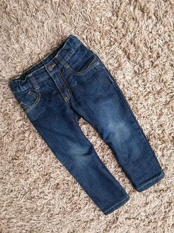 2x jeansy, spodnie Lupilu, ocieplane, rozmiar 98