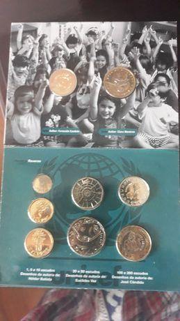 Moedas - Carteira BNC 1999 - Emissão Comemorativa 50 anos Unicef