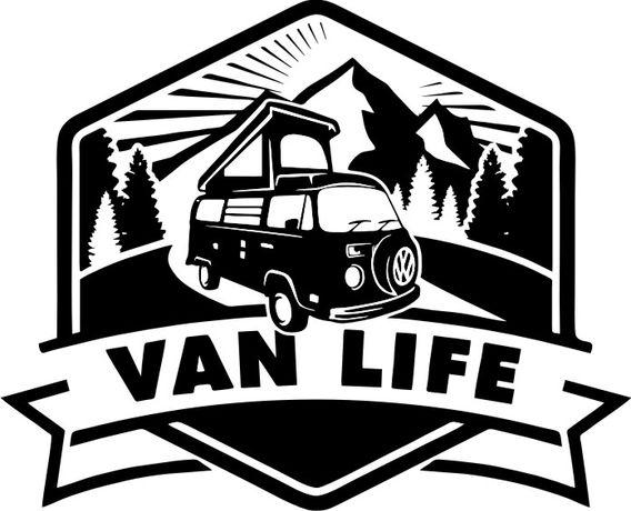 NN24 Naklejka VAN Life kamper, kemping, vestfalia VW wohnwagen