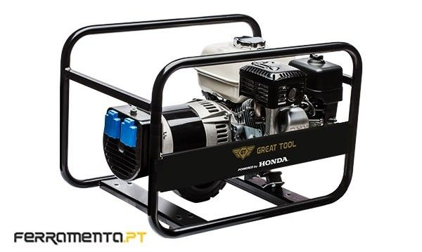Gerador Gasolina 3,0 kVA GREAT TOOL Powered by HONDA GT 3500 H Amora - imagem 1