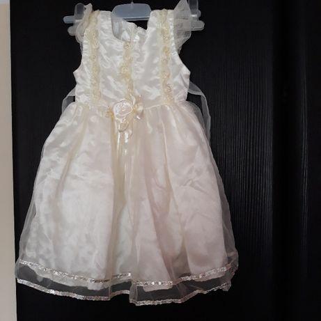 sukieneczka balowa na wesele roczek swieta roz ok 1-2 lata