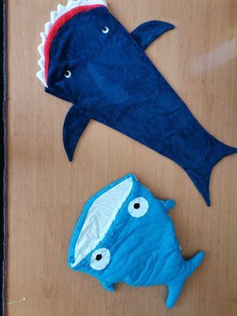 Śpiwór i kocyk rekiny