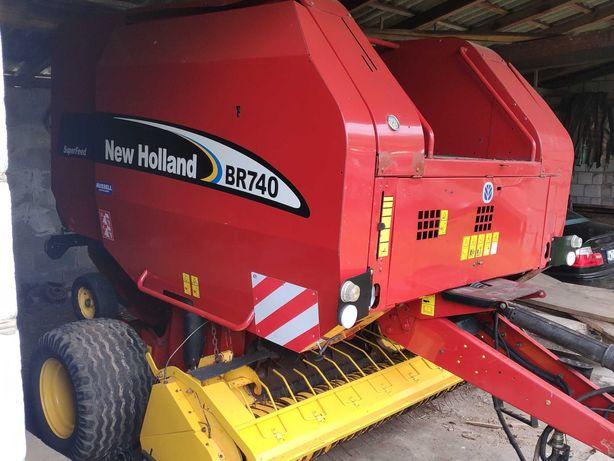 Prasa rolująca New Holland Br 740 z Rotorem, Nowe pasy , Siatka