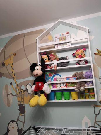 Półka na książki w kształcie domku meble dzieciece