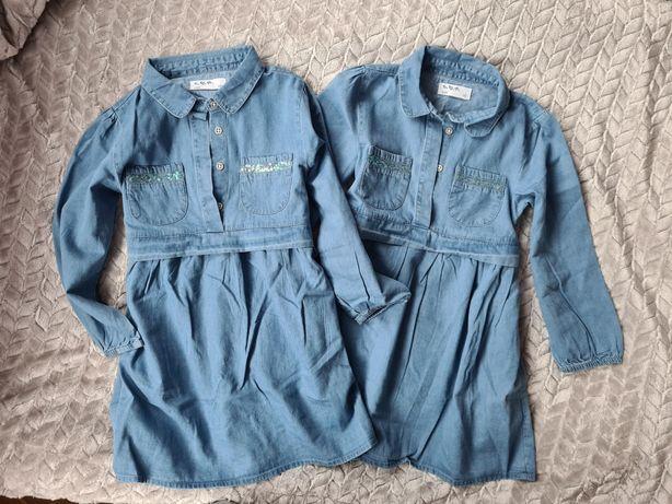 Sukienka jeansowa jeans, święta bliźniaczki 5.10.15 zara R. 110
