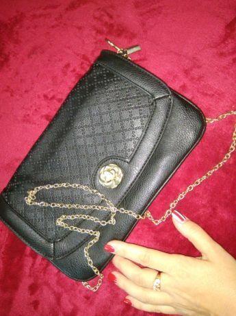 Суперская сумка сумочка клач черная на цепочке Краматорск - изображение 1