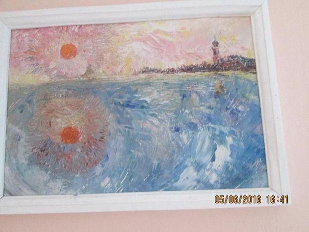 """картина """"Старий маяк"""" Ю.Копчак.1990р"""