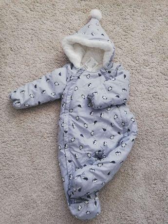 Zimowy kombinezon niemowlęcy H&M 74