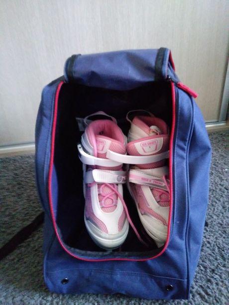 Łyżwy regulowane + plecak