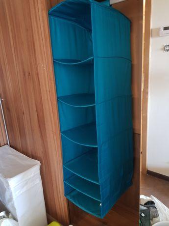Półka wisząca materiałowa na rurkę na drążek IKEA SKUBB 6 przegród