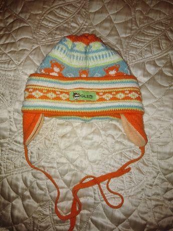 Welniana ciepła czapka r. 80
