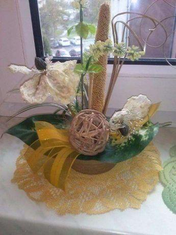 kolekcja kwiaty sztuczne do postawienia stroik ozdoba