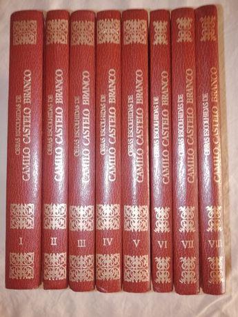 8 Livros Obras Escolhidas de Camilo Castelo Branco