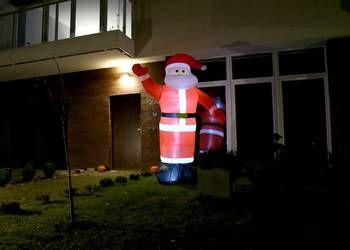 Новогодняя фигура Дед Мороз LED большой надувной Санта Клаус 180см