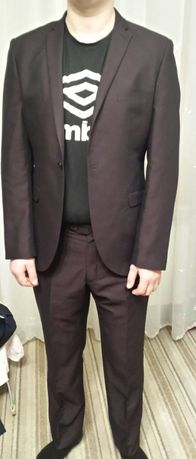 Garnitur męski r. L Ventura! + Krawat Gratis!