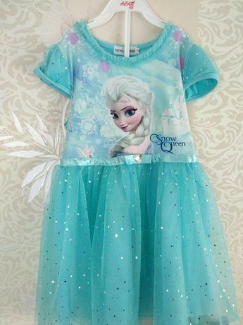 Нарядное платье Эльзы со шлейфом