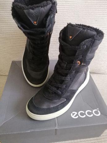 Сапоги зимние, высокие ботинки Ecco  р. 32