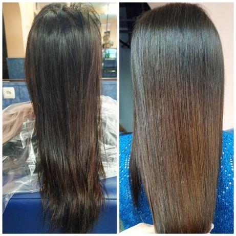 Кератиновое выпрямление, ботокс, лечение, восстановление волос
