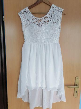 Biała, elegancka sukienka