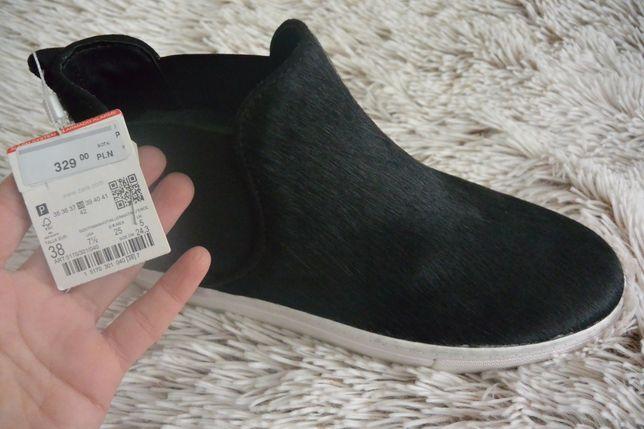 Slippers Zara rozm. 38/39 botki czarne NOWE