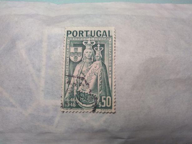 Selos de Portugal - 1946 - 3º Centenário Proclamação da Padroeira $50