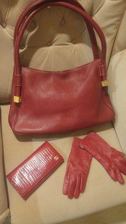 Сумка Chanel натуральная кожа кошелек перчатки